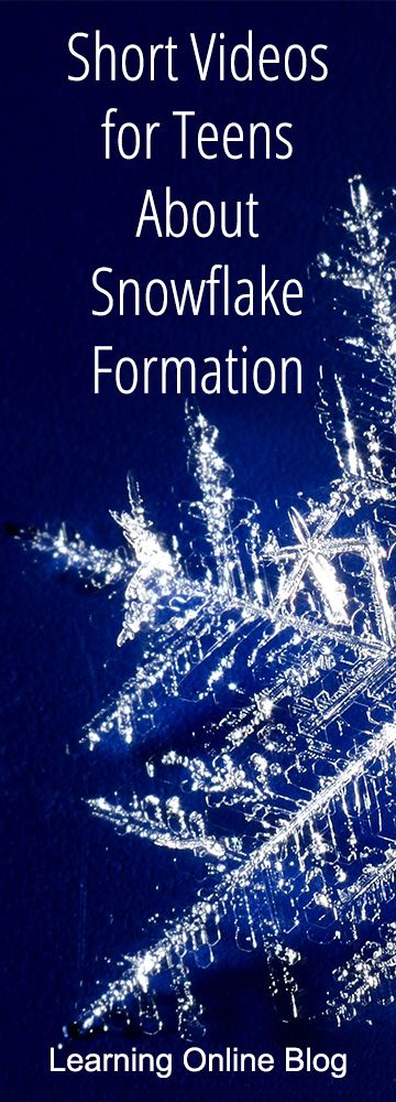 Great videos on the chemistry behind how snowflakes form.