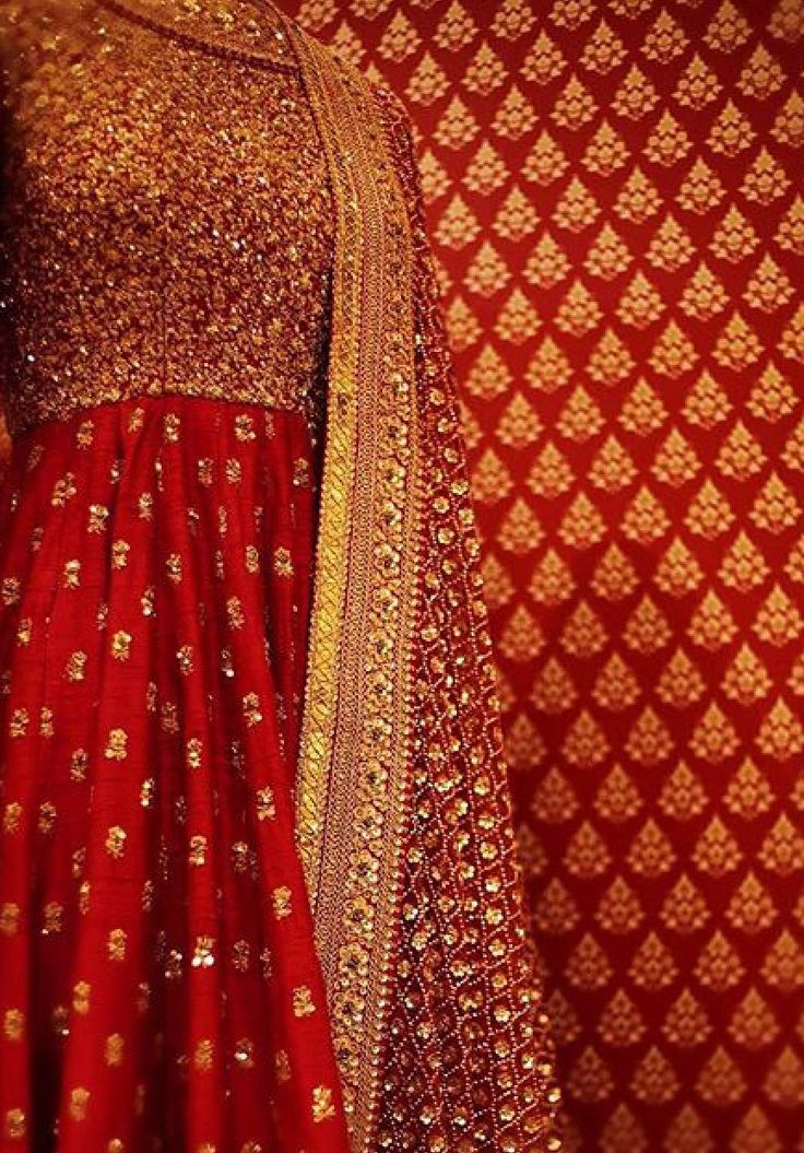 Anarkali with striking colour scheme.