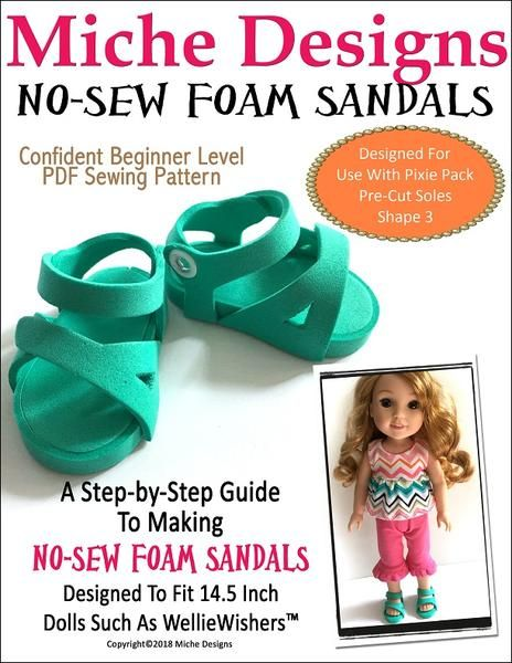 aa8b9860d No-Sew Foam Sandals 14.5