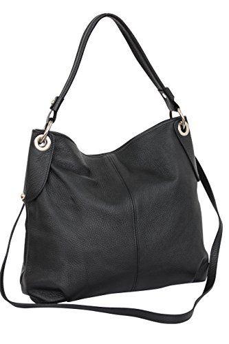 e1a87d78cf7e AMBRA Moda Damen echt Ledertasche Handtasche Schultertasche Beutel Shopper  Umhängtasche GL012   Bag
