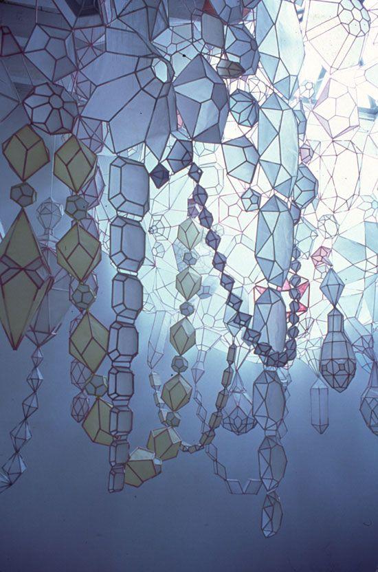 Paper JewelsPaper Jewels, Kirsten Hassenfeld, Beautiful, Paper Art, Paper Sculpture, Paper Jewelry, Geometric Design, Art Installations, Crafts