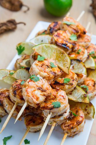 Chipotle Lime Grilled Shrimp - YIAH Chilli, Lime and Chipotle Meat rub is magic :)