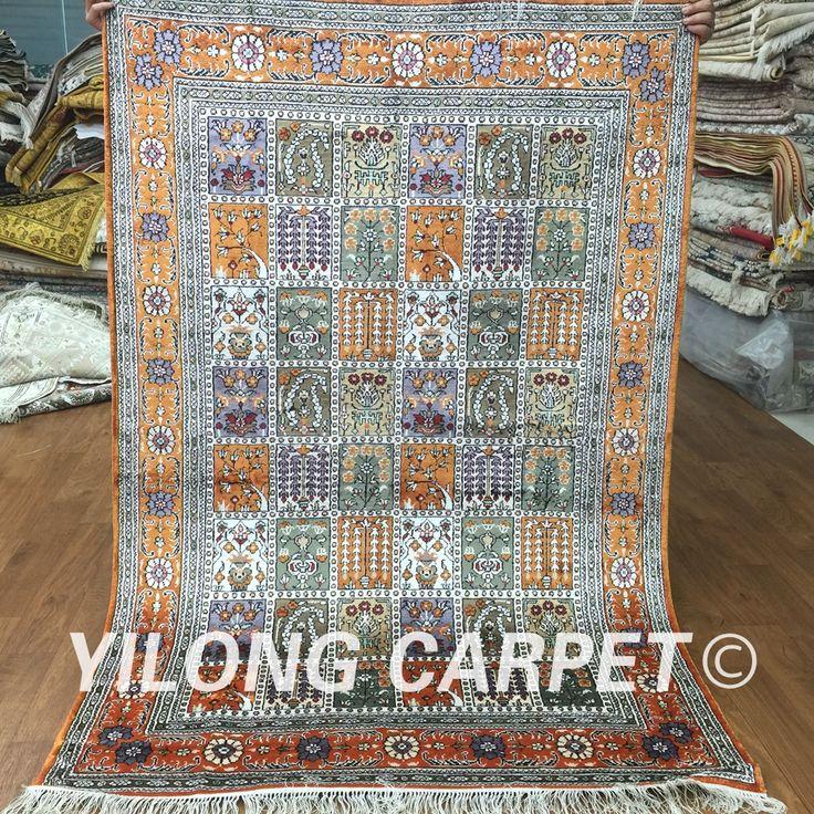 Aliexpress.com: Comprar Yilong 4'x6 'anudada alfombra persa handknotted alfombra de seda china hecha a mano de diseño de Jardines (Y368C 4x6) de rugged ipod touch case fiable proveedores en Yilong Factory Store