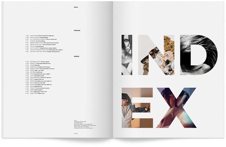 Index #layout #print