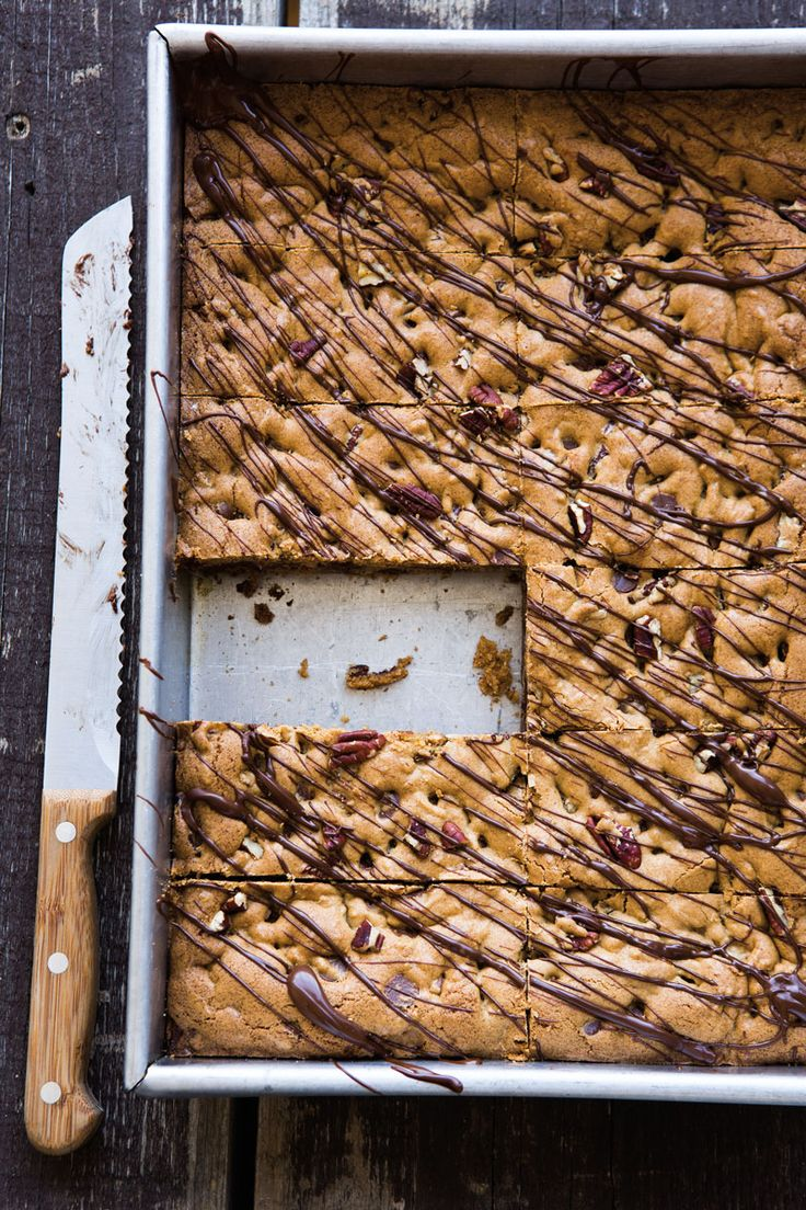 ... can't get enough!! Cookie of the Day: Chocolate Chip-Pecan Bars