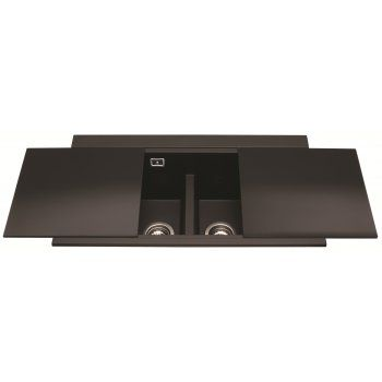 CDA KG80BL Composite Sink Double Bowl Reversible Black