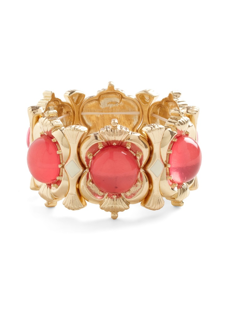 Glamour School Bracelet - Gold, Solid, Luxe, Pink, Party