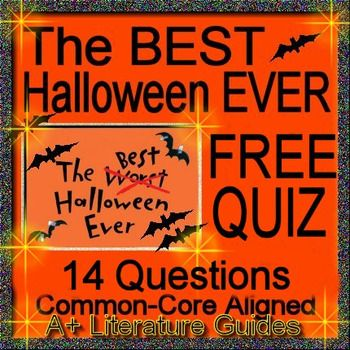 ***FREE*** This is a Free 14 question multiple choice quiz for chapters 1 - 3 of The Best Halloween Ever by Barbara Robinson.  It is common core aligned for the full range of the Reading Literature Standards.The multiple choice format allows quick and easy grading for teachers.