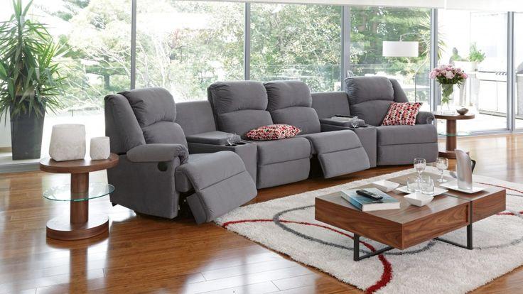 Ben 6 Piece Powered Recliner Fabric Lounge Recliner