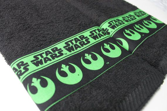 Star Wars Rebels Green Hand Towel Set by scifistitches on Etsy