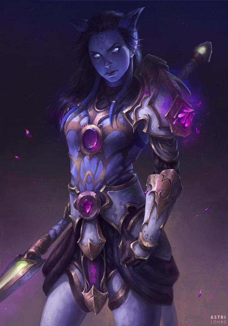 Commission info | ArtStation | Instagram | Youtube  My first draenei! Had fun working on this despite some big hiccups in the process. Speedpaint: youtu