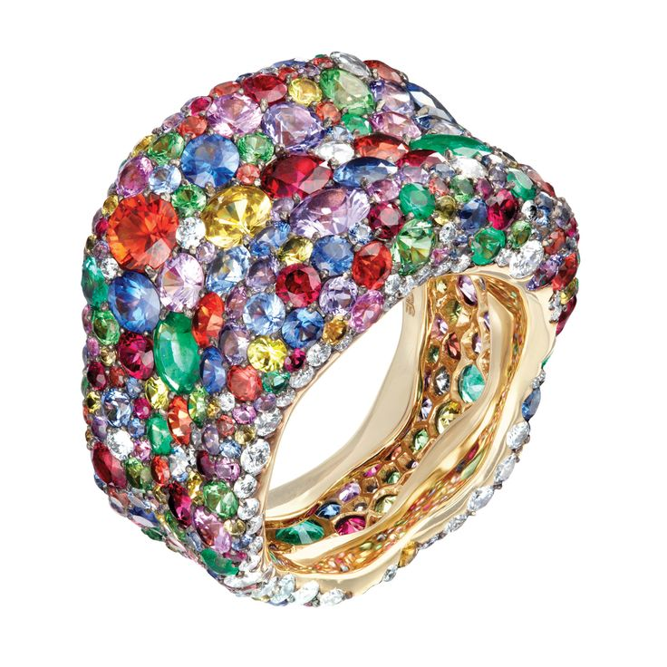 Fabergé Emotion Multi-coloured Ring #Fabergé #Emotion #Ring