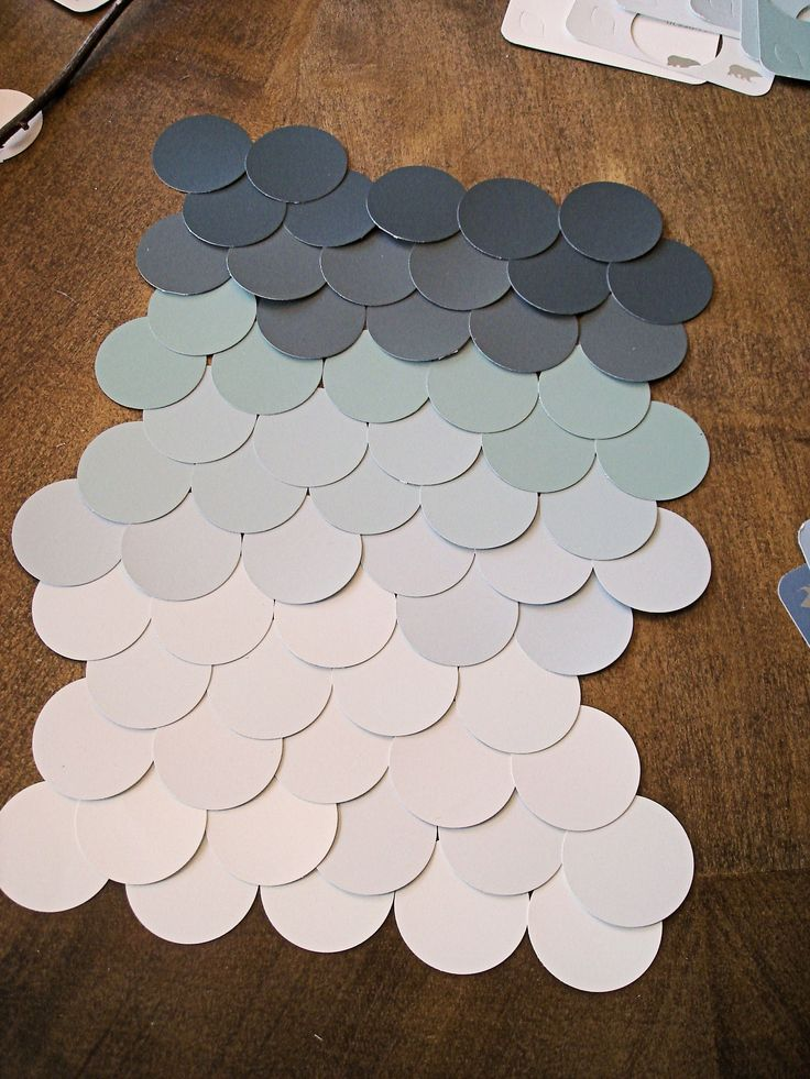 Paper punch wall decor