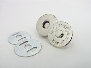 10sets 18mm Magnetic Snaps Purse Closures Silver | eBay