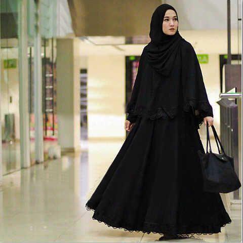 Gamis Syar'i Modern ROYAL HITAM - http://warongmuslim.com/gamis-syari/gamis-syari-modern-royal-hitam/