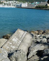Wordsmith: Here are a few pieces from the Wellington Writers Walk, which shows quotes from New Zealand literature) slotted into the landscape as you walk around the waterfront...[design blog]
