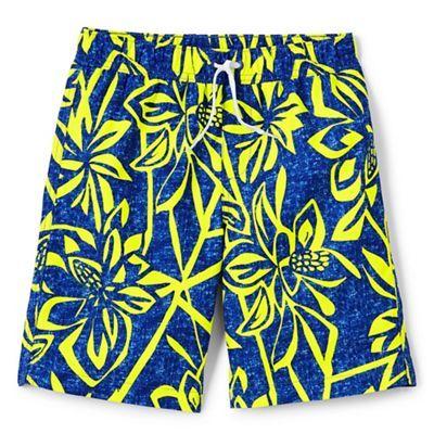 Lands' End Boys' blue printed swim shorts | Debenhams