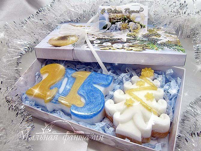 Новогодний подарочный набор мыло ручной работы
