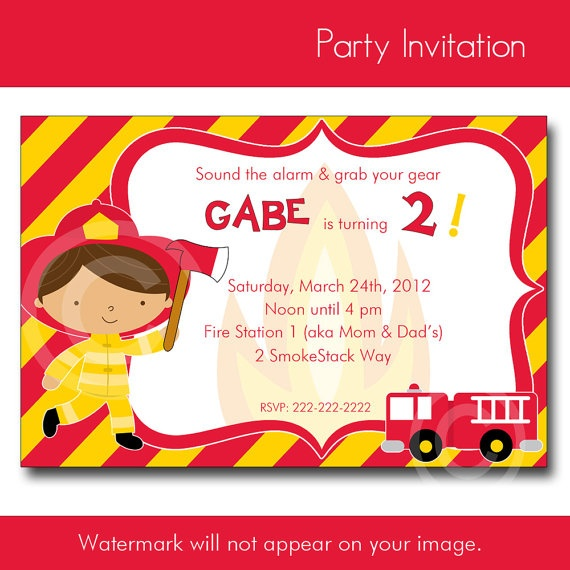 286 best images about Fireman Party – Firefighter Party Invitations