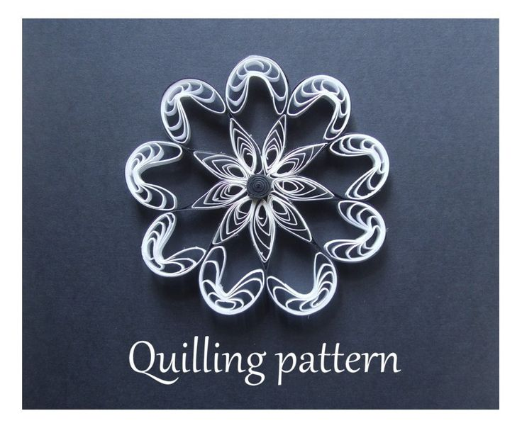 Opening sale - 70% off - Quilling pattern, paper quilling design (QD19) - DIY, PDF Instant download by Quillings4U on Etsy