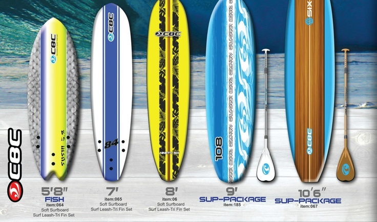 CBC California Surfboards  http://www.keepersportsproducts.com/book/?b=catalog_2013  http://www.keepersportsproducts.com/products.php?i=2=1  http://www.aldersportswear.com/index.php/products/surfboards/softboards/cbc  http://santoloco.com/surf-surfboard-shop-softboards