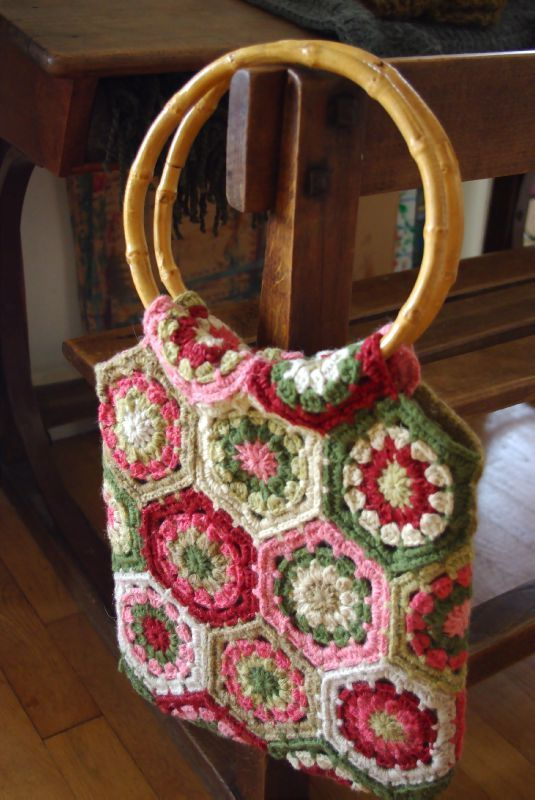 granny square tote Blast from the past Pinterest