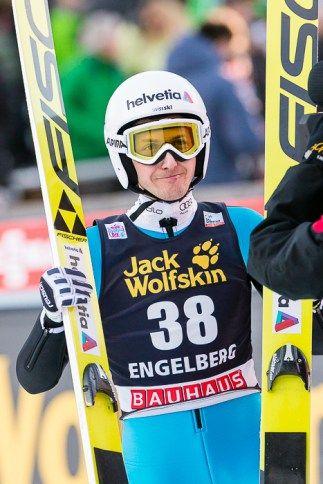 Skispringer Simon Ammann beim FIS Skispringen Weltcup in Engelberg / Schweiz | Bildjournalist Kassel