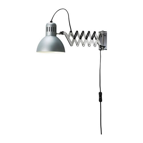 TERTIAL Wall/reading lamp IKEA You can pull the lamp head out from the wall and use it at different distances.