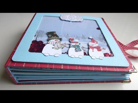 Tutorial mini álbum paso a paso .Parte 3. Página interactiva con shaker card portafotos. - YouTube