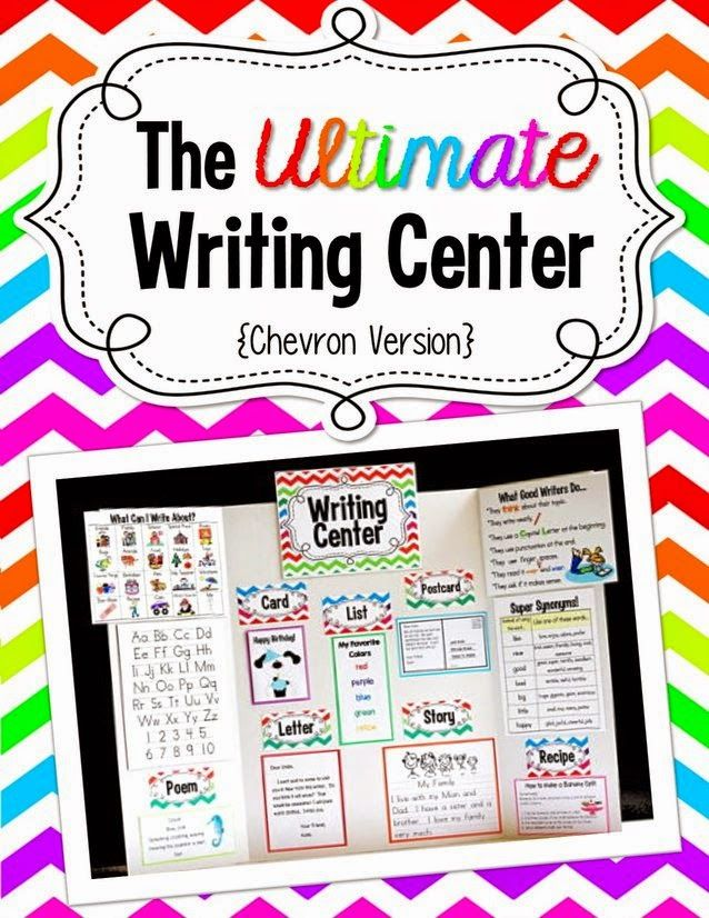 The *Ultimate* Writing Center - Chevron Style.  Make a portable tri-fold board Writing Center or use on bulletin board, wall, binder, etc....