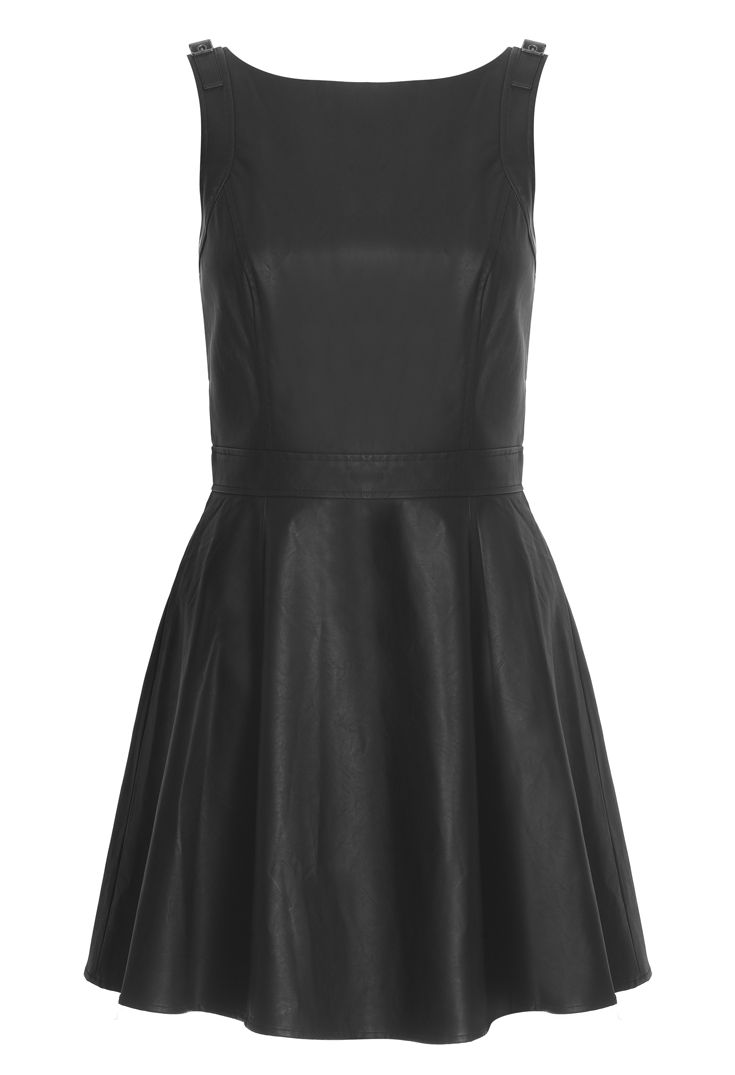 Armani leather dress - dress up for the evening, dress down for a super-stylish work look
