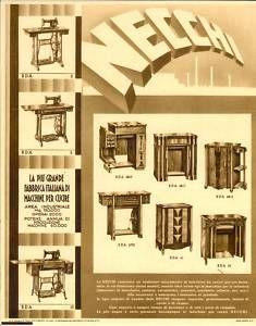 1936 PAVIA Macchine per Cucire NECCHI Pubblicità - Mi máquina es la primera de la primera fila central :)
