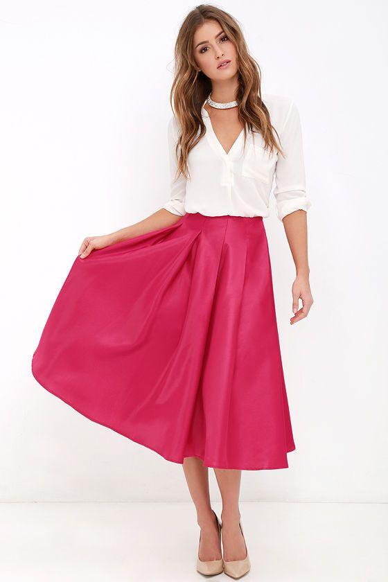 best 25 pink midi skirt ideas on