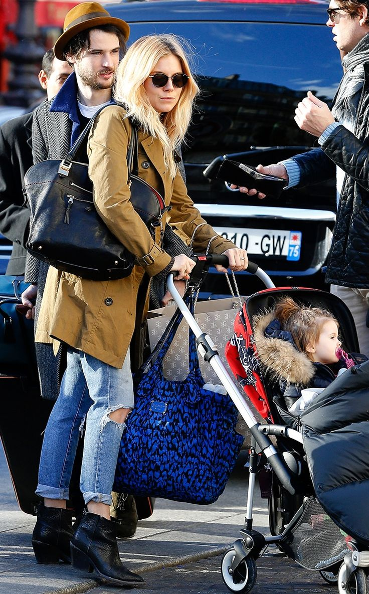 Vogue Daily — Sienna Miller toting a Marc Jacobs diaper bag