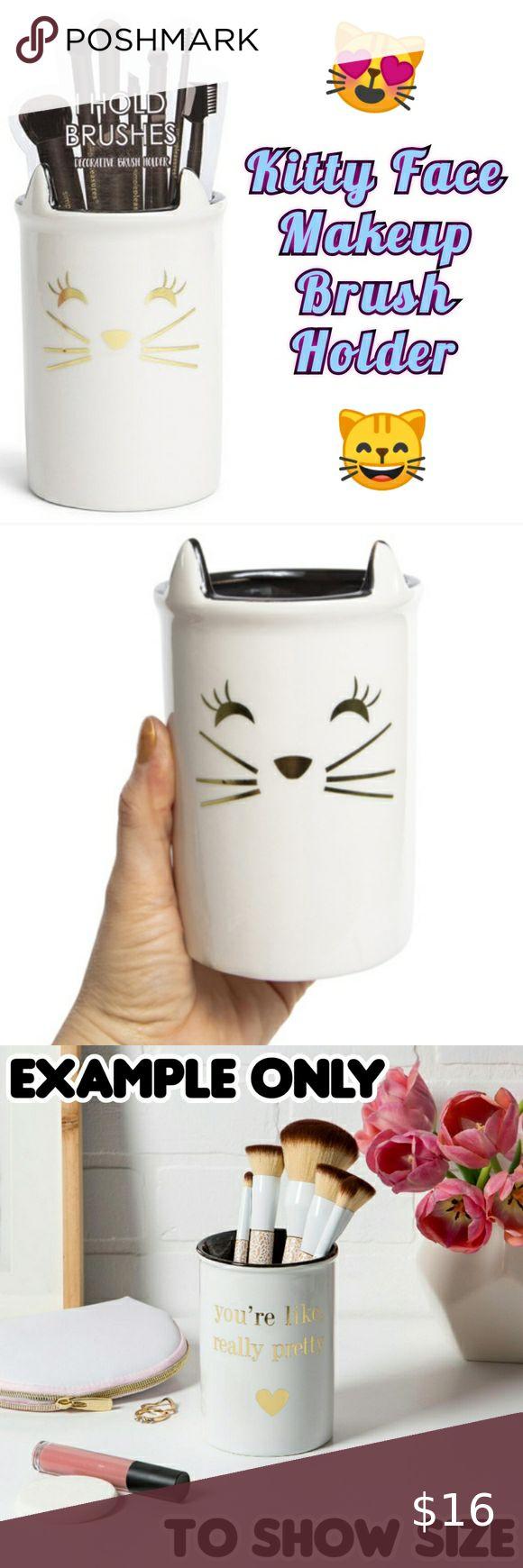 Kitty Cat Face Ceramic Makeup Brush Holder in 2020