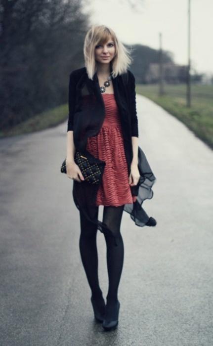 cardigan: Romwe - dress: Zara - necklace: Lia Sophia - bag: Miu Miu - shoes: Nelly (Olivia) (image: bekleidet)