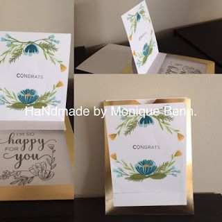 Monique Creates !! Blue congrats card using From the Heart card base from CTMH.