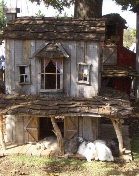 For the pet rabbit fans... This is one stylish rabbit house!