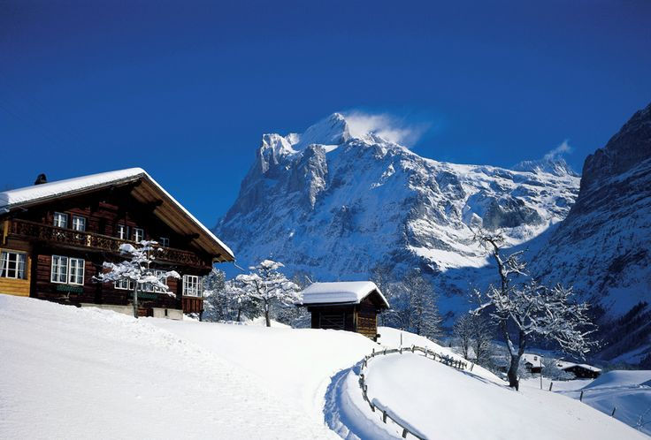 Typical swiss mountain cabin
