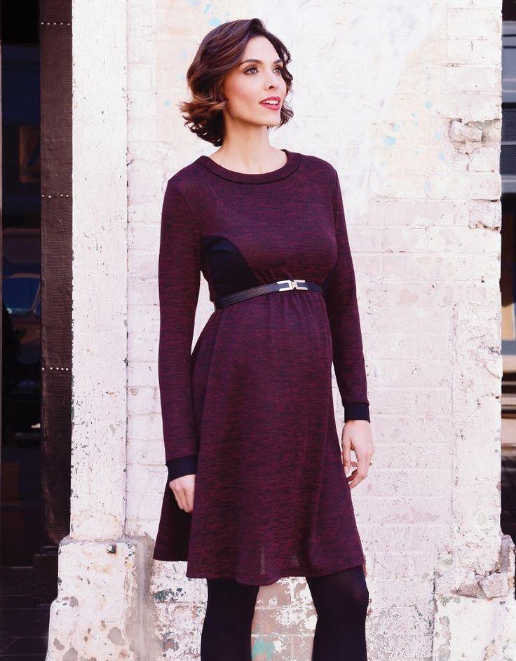Robe sweat de maternité - Bordeaux | Seraphine
