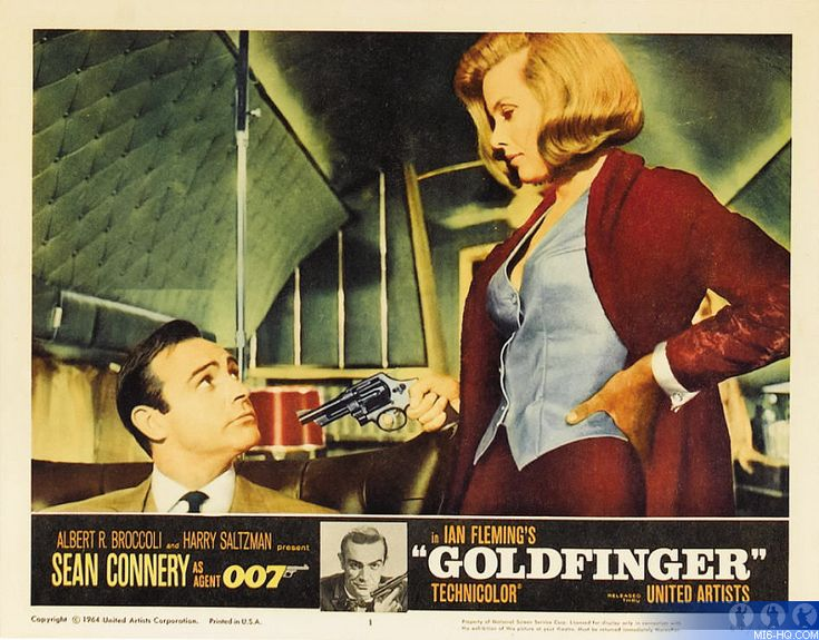Goldfinger (1964) lobby card. James Bond 007