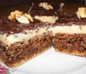 Prăjitură de post cu nucă