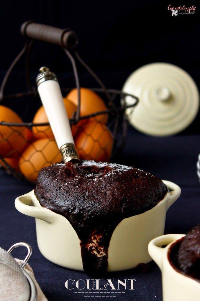 Receta de coulant de chocolate al microondas