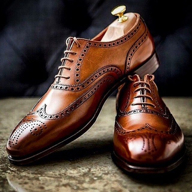 Beautiful classic leather brogues #menswear #shoes #brogues