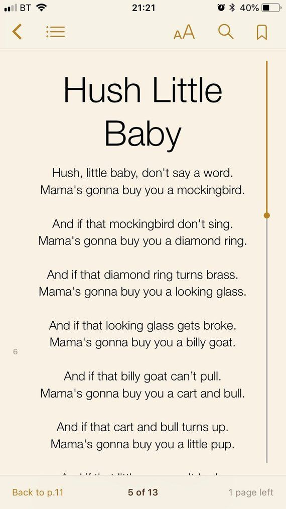Lullaby Lyrics Ebook Baby Toddler Sleep