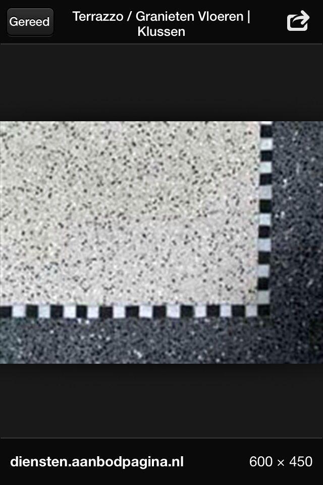 Mooie terazzo of granito vloer!
