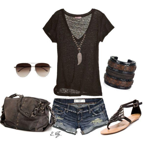 LOLO Moda: Stylish summer fashion                           with longer shorts of course!