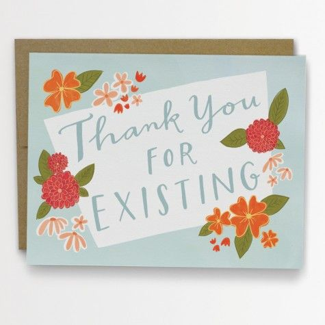 thank you for existing card from Pink Olive - $5.25