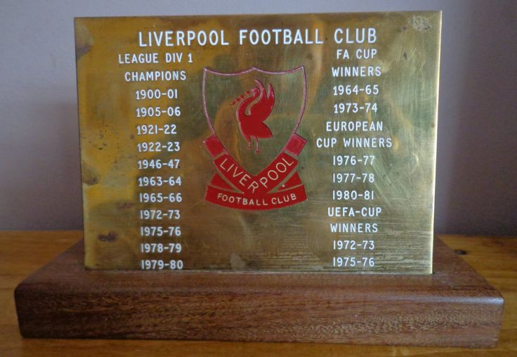 Vintage Liverpool Football Club Memorabilia, LFC Brass Plaque Showing League And Cup Winning Dates, Liverpool Football Club Collectables by OnyxCollectables on Etsy
