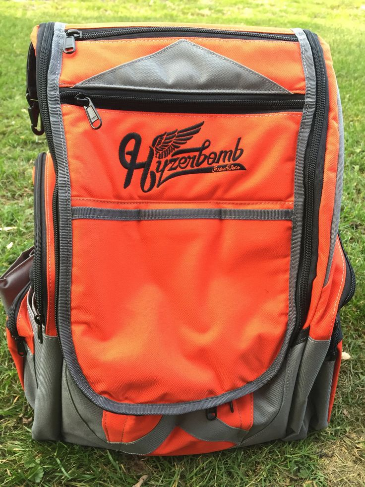 Disc Golf 20851: Wingz Disc Golf * Brand New Millenium Hyzerbomb Flakx Backpack * Orange Bag BUY IT NOW ONLY: $165.0